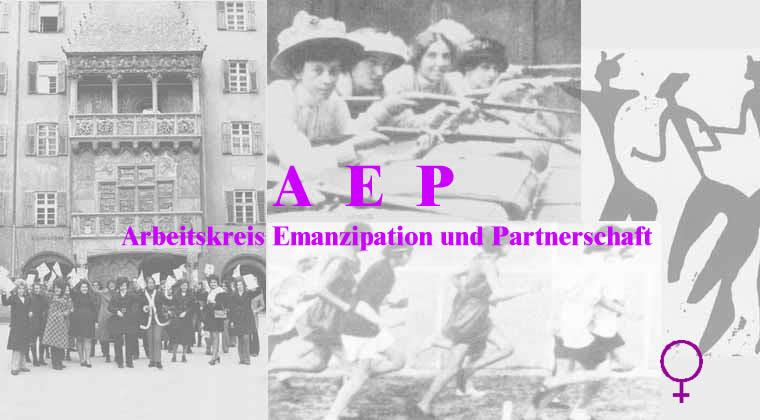 Fotocollage mit historischen Bildern der Frauenbewegung international und in Tirol