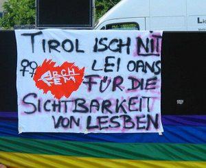"""Transparent """"Tirol isch nit lei oans – für die Sichtbarkeit von Lesben"""""""